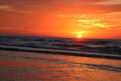 Simmering Sunset Poster