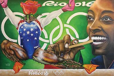 Simone Biles The Golden Rose Poster