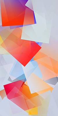 Simple Cubism Abstract 124 Poster