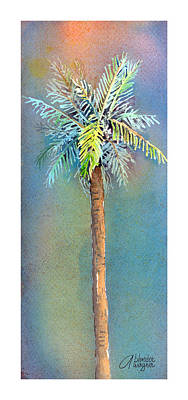 Simple Palm Tree Poster by Arline Wagner