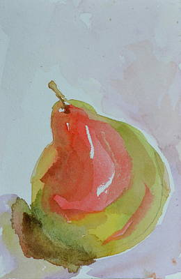 Poster featuring the painting Simple Pear by Beverley Harper Tinsley