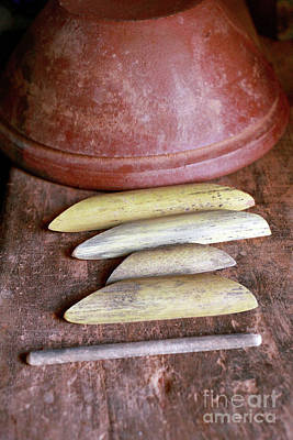 Simple Pottery Tools. Poster