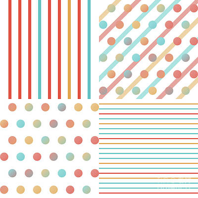 Simple Saturated Pattern Poster