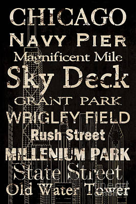 Simple Speak Chicago Poster by Grace Pullen