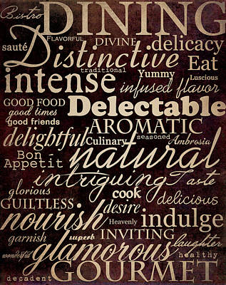 Simple Speak Dining Poster