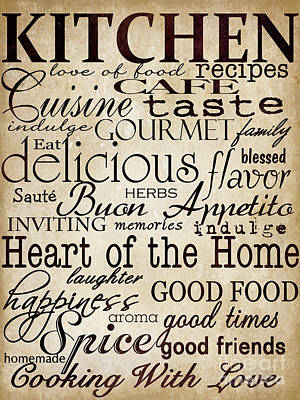 Simple Speak Kitchen Poster by Grace Pullen