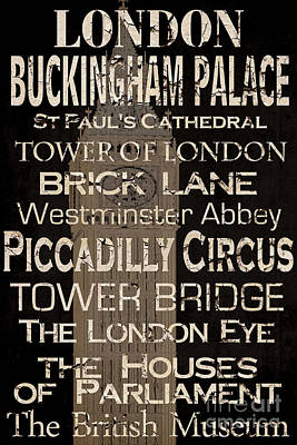 Simple Speak London Poster by Grace Pullen