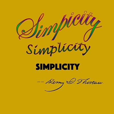 Simplicity Poster by Rich Mason