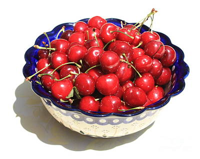 Simply A Bowl Of Cherries Poster by Carol Groenen