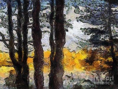 Simulated Van Gogh Scene Poster