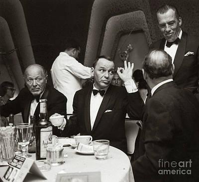 Sinatra And Ed Sullivan At The Eden Roc - Miami - 1964 Poster