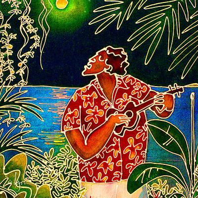 Sing Hanalei Moon Poster by Angela Treat Lyon