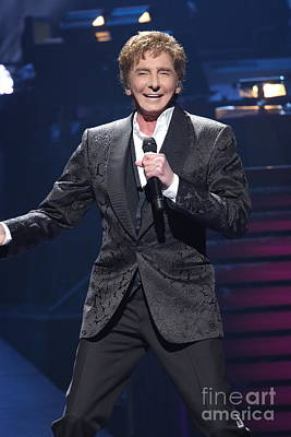 Singer Barry Manilow Poster by Concert Photos
