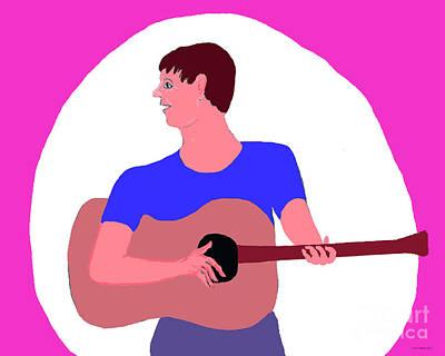 Singing Guitarist Poster