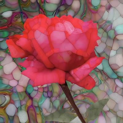 Single Rose Poster by Jack Zulli