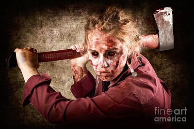 Sinister Zombie Axe Murderer. A Grunge Death Poster by Jorgo Photography - Wall Art Gallery