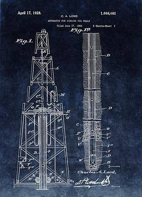 Sinking Oil Well Patent Poster by Dan Sproul