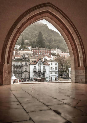 Poster featuring the photograph Sintra Through The Arch by Julie Palencia