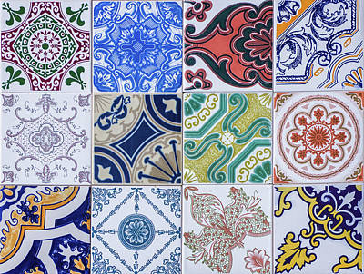 Poster featuring the photograph Sintra Tiles by Carlos Caetano