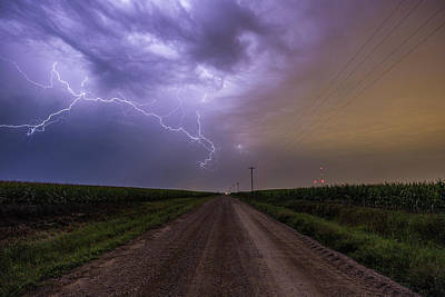 Poster featuring the photograph Sioux Falls Lightning by Aaron J Groen