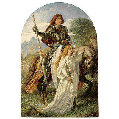 Sir Galahad And The Angel Poster by MotionAge Designs