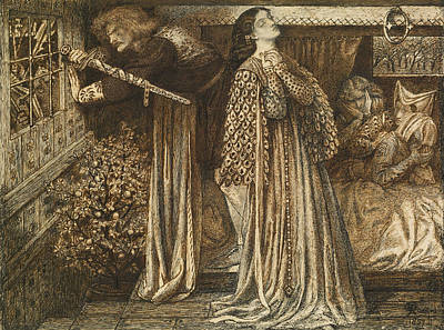 Sir Launcelot In The Queen's Chamber Poster by Dante Gabriel Rossetti