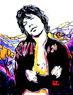 Sir Mick Jagger Poster by John Leclerc