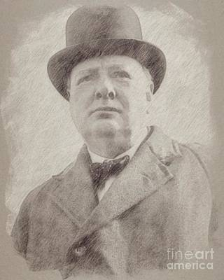 Sir Winston Churchill Prime Minister Of England Poster by Frank Falcon