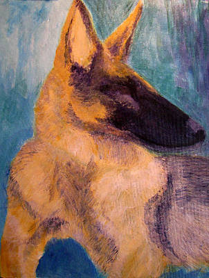 Poster featuring the painting Sirius Canis Major by Barbara Giordano