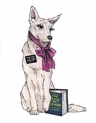 Sister Missionary Dog Card Poster by Katrina Davis