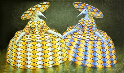 Sisters Poster by Lolita Bronzini