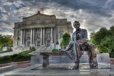 Sit With Me - Seated Lincoln Memorial By Gutzon Borglum  Poster