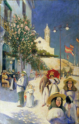 Sitges In The Twentieth Century Poster by MotionAge Designs