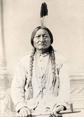 Sitting Bull Born Circa 1831 Died 1890 Poster by Vintage Design Pics