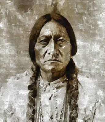 Sitting Bull Poster by Mary Bassett