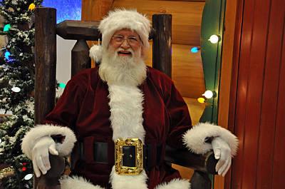 Sitting Santa Claus Poster