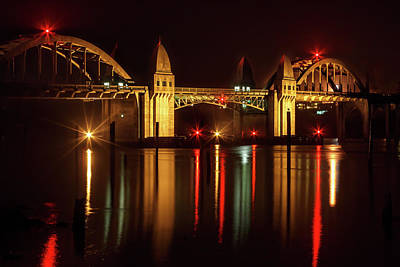 Siuslaw River Bridge Reflections Poster by James Eddy