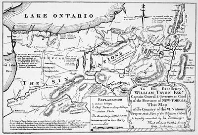 Six Nations Map 1771 Poster by Granger
