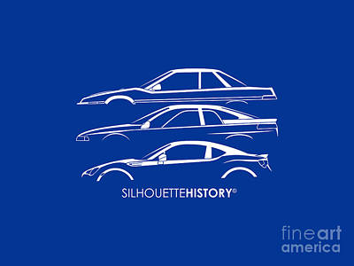 Six Stars Sports Coupe Silhouettehistory Poster