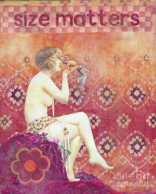 Poster featuring the mixed media Size Matters by Desiree Paquette