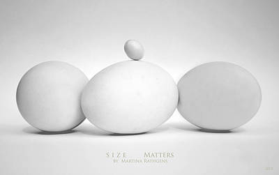 Size Matters Poster by Martina  Rathgens