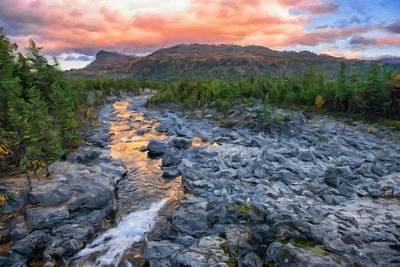 Sjoa River At Gjendesheim, Jotunheim National Park, Norway Poster