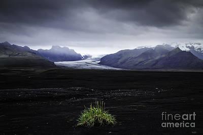 Skaftafellsjokull Glacier Poster by Nancy Dempsey