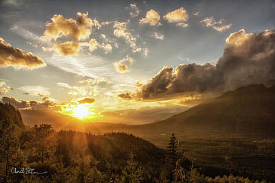 Skagit Valley Sunset Poster