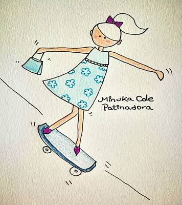 Skate Minuka Cole Poster by Marian Rodriguez