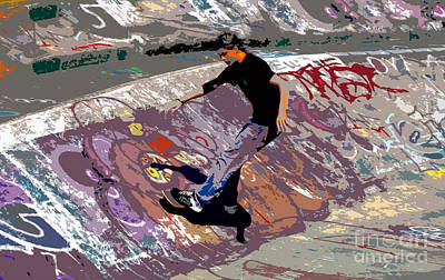 Skate Park Poster by David Lee Thompson