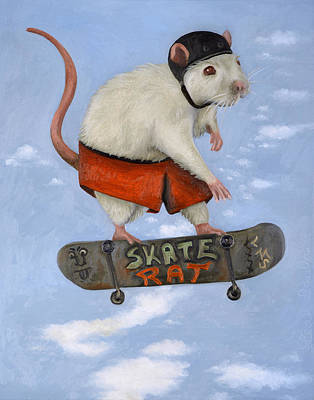 Skate Rat Poster by Leah Saulnier The Painting Maniac