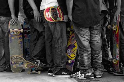Skateboarders Poster by Stelios Kleanthous