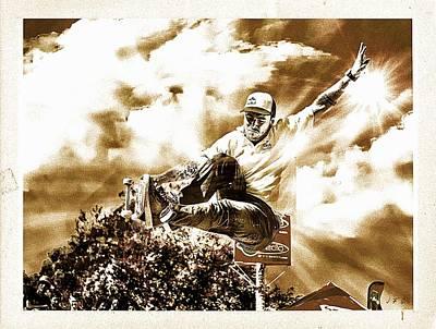 Skateboarding,red Bull, Bowlriders,  Poster by Jean Francois Gil