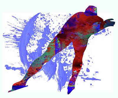 Skater Poster by Elena Kosvincheva